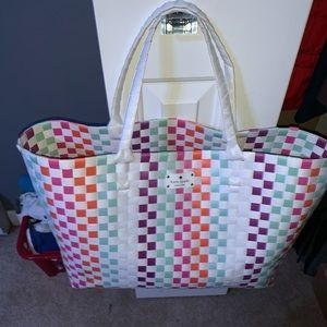 Kate Spade Large Woven Tote Bag